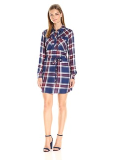 Olive & Oak Women's Plaid Shirt Dress