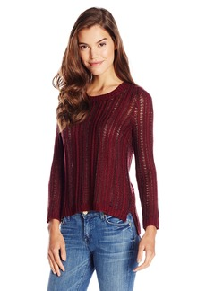 Olive & Oak Women's Pullover Textured Crew Neck Sweater