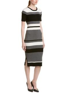 Olive & Oak Women's Rib Column Stripe Sweater Dress