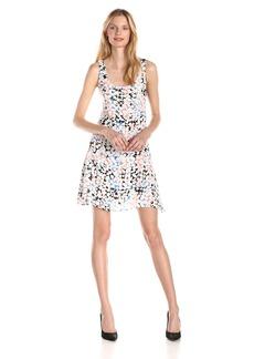 Olive & Oak Women's Shattered Tile Print Dress