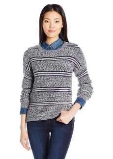 Olive & Oak Women's Stripe Marled Pullover Sweater