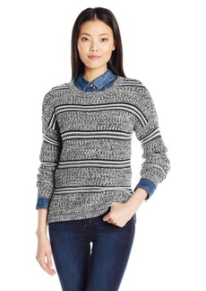 Olive & Oak Women's Stripe Marled Pullover Sweater