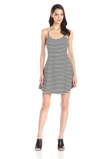 Olive & Oak Women's Stripe Strappy Fit and Flare Dress