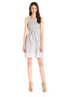 Olive & Oak Women's Stripe Tank Dress with Slit  edium