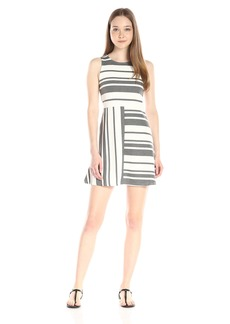 Olive & Oak Women's triped Midi Dress  mall