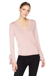 Olive & Oak Women's Topanga Bell Sleeve Wrap Top