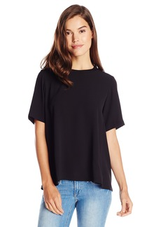 Olive & Oak Women's Zip Back Short Sleeve Top