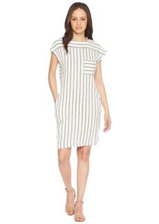 Olive & Oak Short Sleeve Multi Panel Stripe Knit Dress