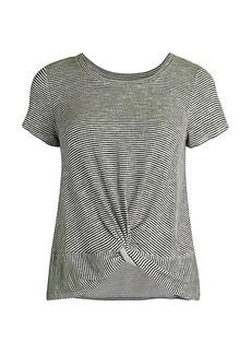 Olive & Oak Stripe Twist-Front T-Shirt