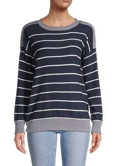 Olive & Oak Striped Pullover