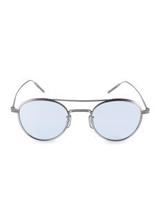 Oliver Peoples 47MM Round Titanium Sunglasses
