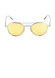 Oliver Peoples 47MM Round Titanium Sunglasses<br>