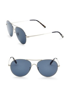 Oliver Peoples 58MM Rockmore Pilot Sunglasses