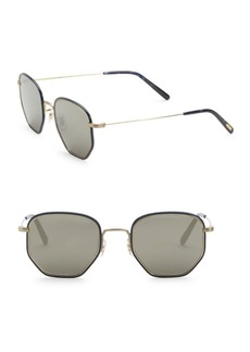 Oliver Peoples Alland 50MM Hexagon Sunglasses