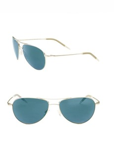 Oliver Peoples Benedict 59mm Tinted Aviator Sunglasses