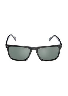 Oliver Peoples Bernardo 56MM Rectangular Sunglasses