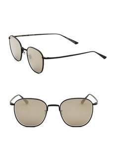 Oliver Peoples Board Meeting 2 49MM Mirrored Square Sunglasses