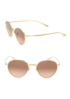Oliver Peoples Brownstone 49MM Round Sunglasses