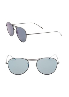 Oliver Peoples Cade 52mm Aviator Sunglasses