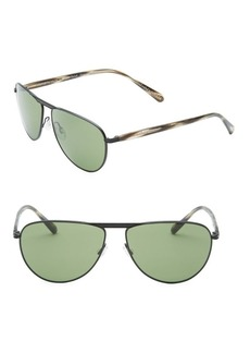 Oliver Peoples Conduit Street 59MM Aviator Sunglasses