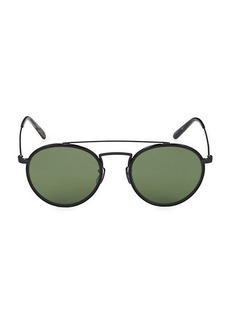 Oliver Peoples Ellice 50MM Aviator Sunglasses