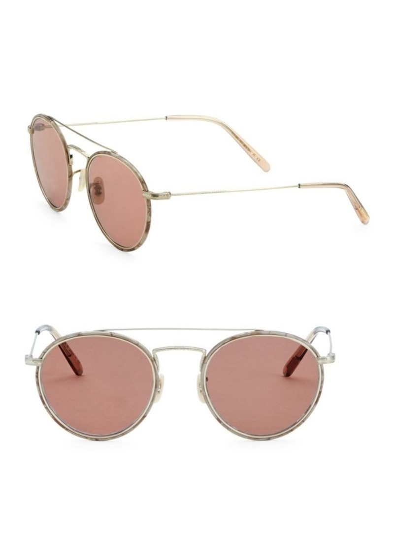 5946471718a Oliver Peoples Ellice 50MM Round Sunglasses