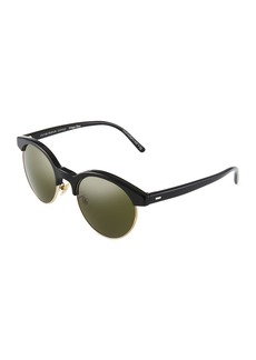 Oliver Peoples Ezelle 51Semi-Rimless Acetate Sunglasses