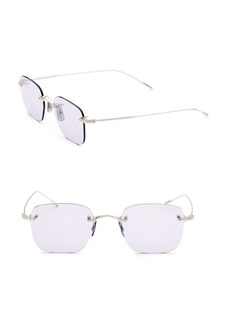 Oliver Peoples Finne 49MM Square Sunglasses