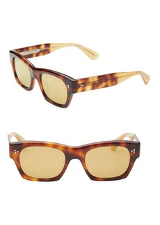 Oliver Peoples Leopard-Print 51MM Square Sunglasses