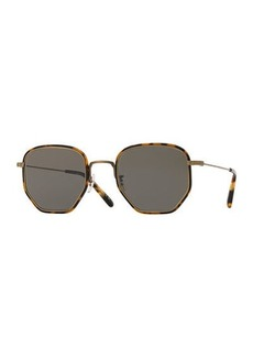 Oliver Peoples Men's Alland Square Metal/Acetate Sunglasses