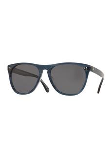 Oliver Peoples Men's Daddy B Square Acetate Polarized Sunglasses - Indigo Havana