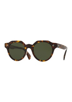 Oliver Peoples Men's Irven Faceted Round Acetate Sunglasses - DM2