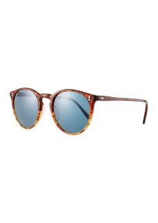 Oliver Peoples Men's O'Malley Peaked Round Photochromic Sunglasses