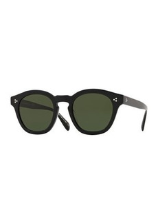 Oliver Peoples Men's Row Boudereau LA Round Acetate Sunglasses
