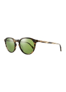 Oliver Peoples Men's Rue Marbeuf Round Acetate Sunglasses