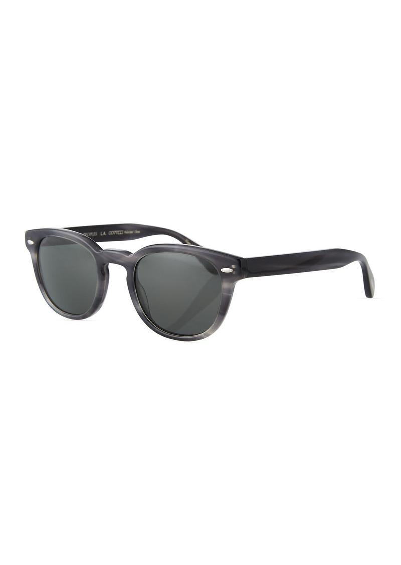 999f85e538632 Oliver Peoples Men s Sheldrake Round Polarized Sunglasses - Charcoal Tort