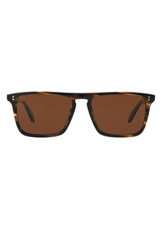 Oliver Peoples OIiver Peoples Bernardo 56mm Polarized Square Sunglasses
