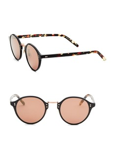 Oliver Peoples 1955 48MM Mirrored Round Sunglasses