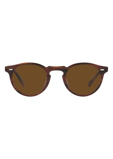 Oliver Peoples 47mm Polarized Round Folding Sunglasses