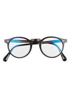 Oliver Peoples 47mm Round Blue Light Filtering Glasses
