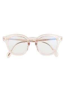 Oliver Peoples 48mm Square Blue Light Filtering Glasses