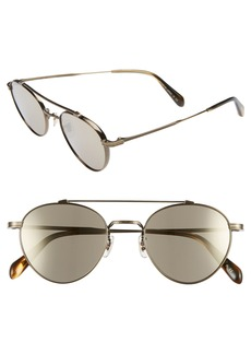 Oliver Peoples 49mm Brow Bar Aviator Sunglasses