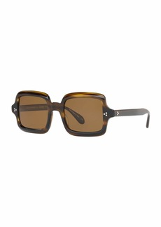 Oliver Peoples Avri Square Polarized Sunglasses