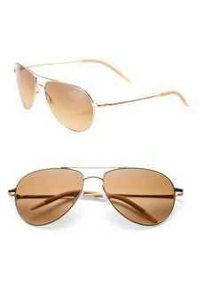 Oliver Peoples Benedict 16MM Aviator Sunglasses