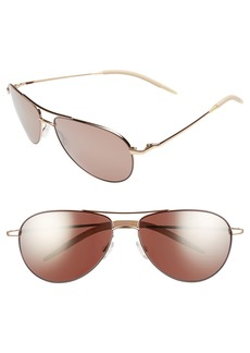 Oliver Peoples 'Benedict' 59mm Aviator Sunglasses