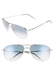 Oliver Peoples Benedict 59mm Gradient Aviator Sunglasses