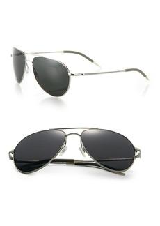 Oliver Peoples Benedict 59MM Graphite Aviator Sunglasses