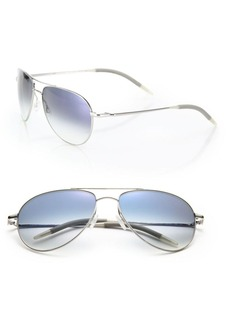 Oliver Peoples Benedict 59MM Metal Aviator Sunglasses
