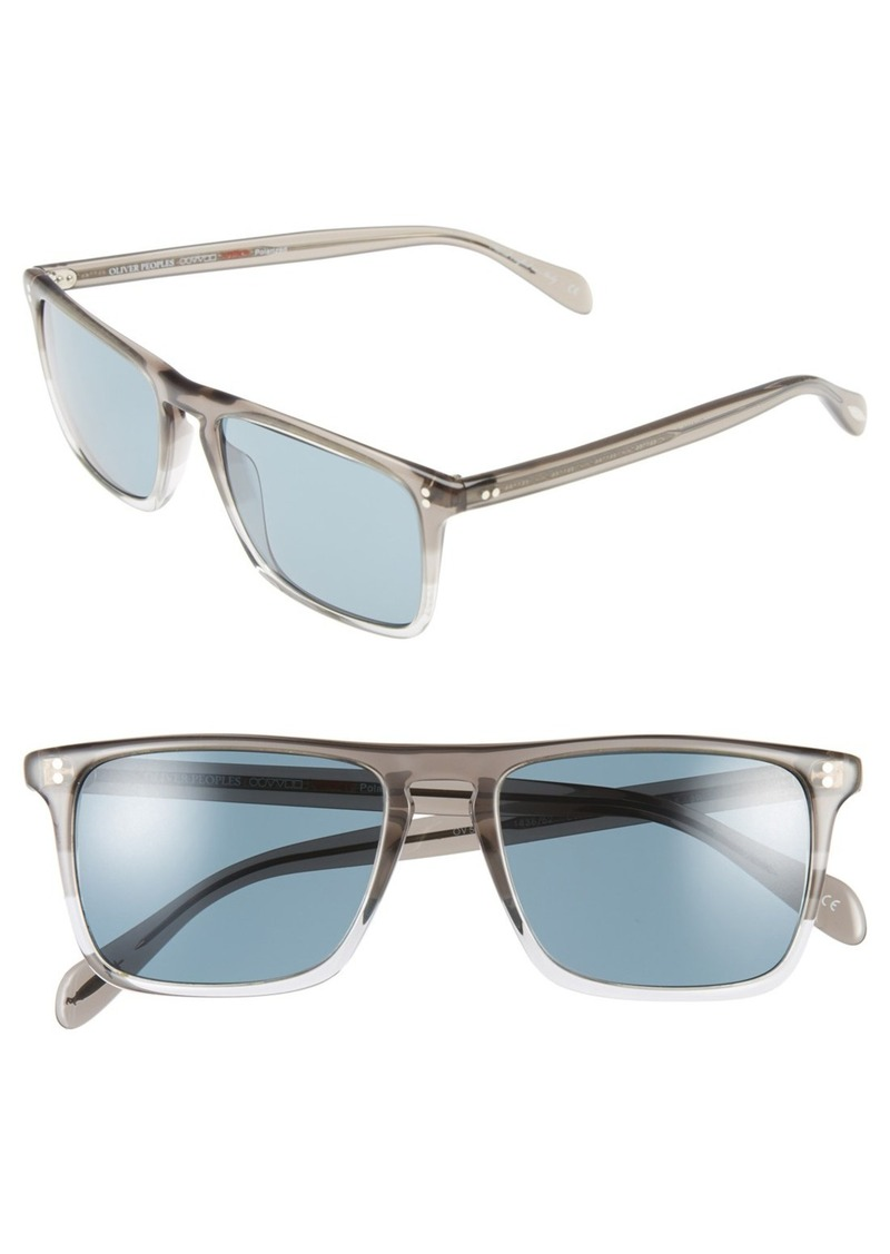 Oliver Peoples 'Bernardo' 54mm Polarized Square Sunglasses