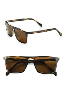 Oliver Peoples Bernardo Square Sunglasses/Cocobolo